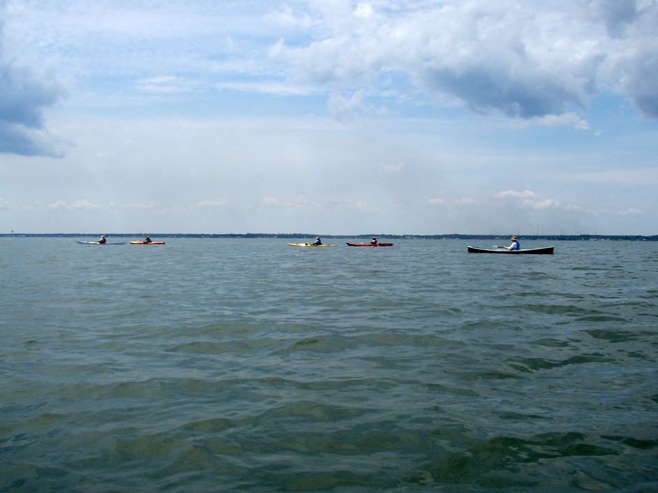 Bogue Sound canoe and kayak trip.
