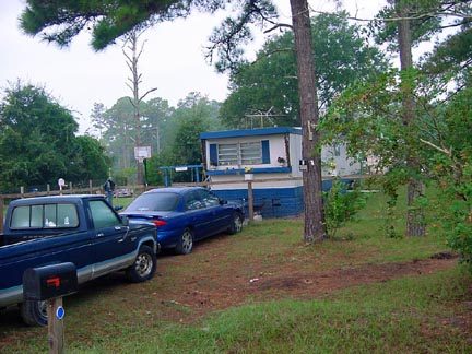 This is a picture of lots 10 & 11 with the previous tenant's mobile home.