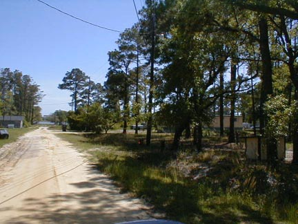 This is the view of the Intracoastal Waterway    from the front of the lot. The house in the distance is on Holden beach.