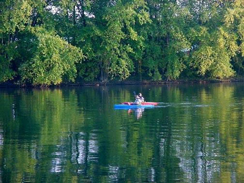 Blue Juniata River  Newton Rapids.