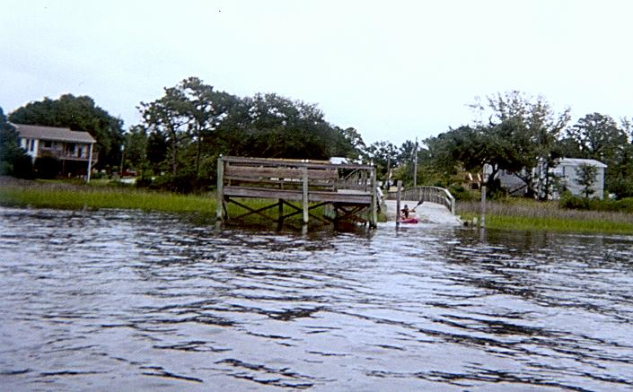 Community pier and boat ramp.
